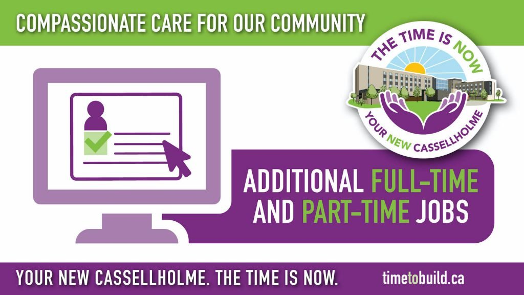 Cassellholme Infographics Additional Full-Time and Part-Time Jobs